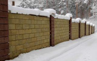 Строим забор из шлакоблоков