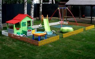 Монтаж ограждений детских площадок
