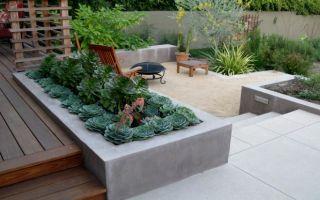 Самостоятельное изготовление и принципы выбора бетонных клумб