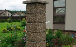 Производство и монтаж блоков для столбов забора