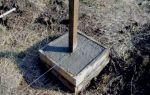 Как выполняется бетонирование столбов для забора?