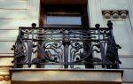Кованые металлические перила на балкон
