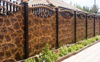 Изготовление и установка декоративного бетонного забора